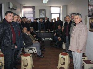 Yalçınkaya'dan göreve yeniden seçilen Günay'a hayırlı olsun ziyareti