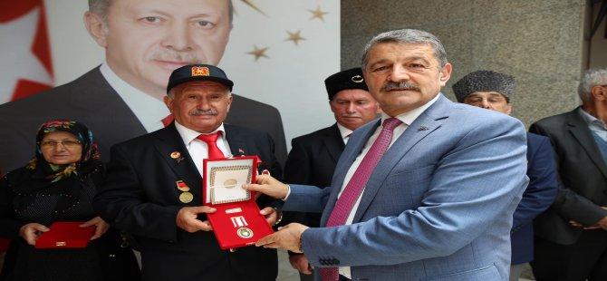 Kahraman Gazilerimize madalyaları takdim edildi