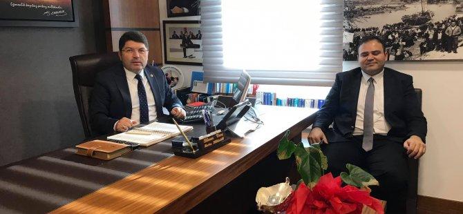 Tunç'a Bartın KOSGEB İl Müdürlüğüne atanan Akdağoğlu'ndan TBMM'de ziyaret