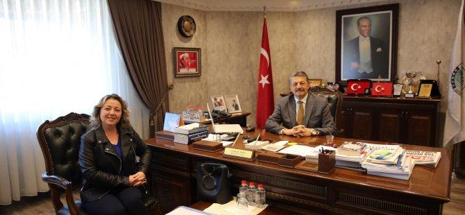 Dernek Başkanı Şengün Akın'ı ziyaret etti
