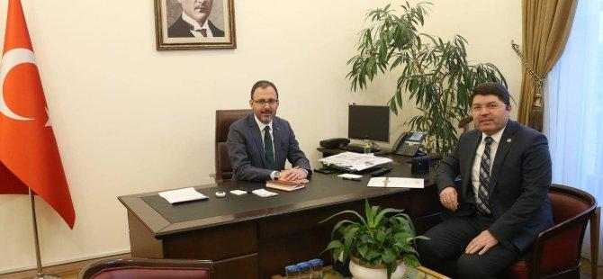 Milletvekili Tunç, Bakan Kasapoğlu'nu ziyaret etti
