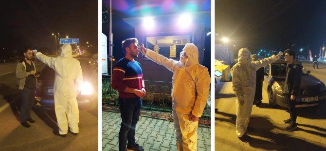 Polis ve Jandarma'dan kontrol noktalarında sağlık denetimi