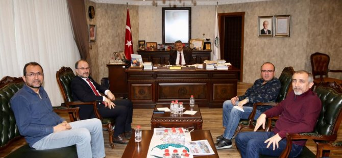Türkiye Kamu-Sen ve Türk Eğitim-Sen'den Akın'a Ziyaret
