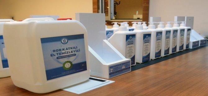 Bor katkılı el temizleyicisi ile sabun üretildi
