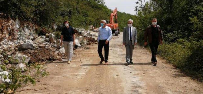 Başkan Dursun, çalışmaları yerinde takip ediyor