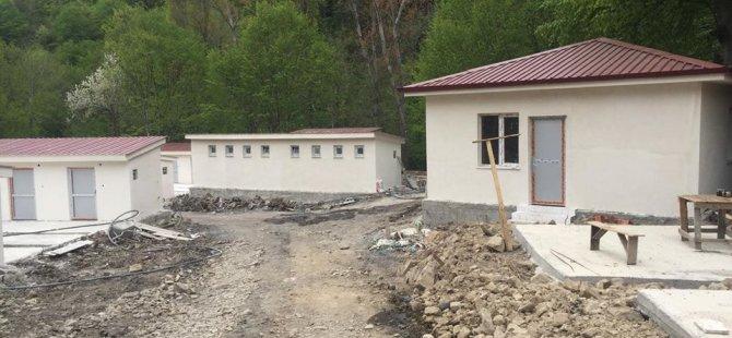 Geçici Hayvan Bakım Evi inşa ediliyor