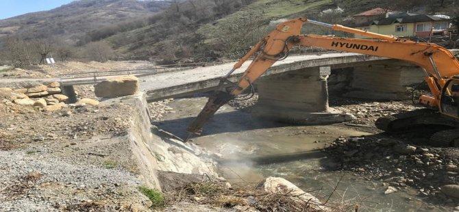 Aşağıdere Köprüsü tamamlanmak üzere
