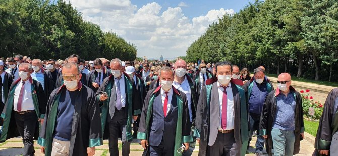Bartın Baro Başkanı Parlatır yürüyüşe katıldı