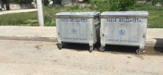 Çöp koyteynerları çalındı
