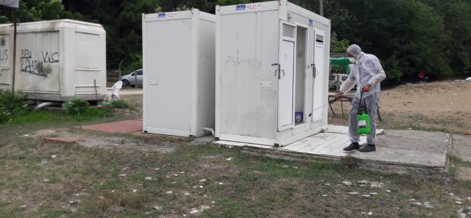 Kovid-19'a yakalan 2 kişinin işletmeleri dezenfekte edildi