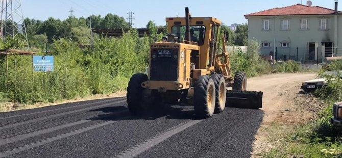 5 bin metrekarelik alanda asfalt çalışması
