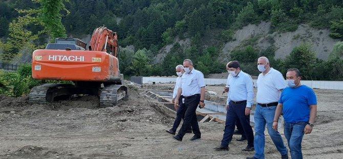 Milletvekili Tunç, Atıksu Arıtma Tesisi inşaatını inceledi