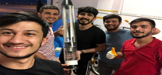 Öğrenciler yaptıkları roket ile TEKNOFEST'te finale kaldılar