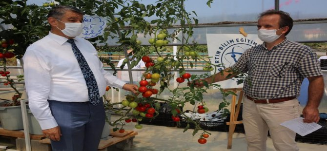 Topraklı ve topraksız tarım eğitimi ile robotik kodlama eğitimleri veriliyor