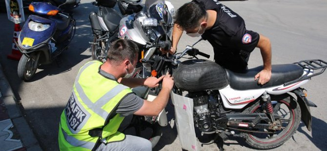1.984 motosiklet trafikten men edildi