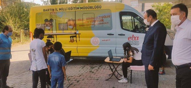 Gezici EBA Aracı Öğrenciler İçin Yollara Düştü