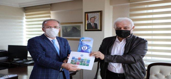 Prof. Dr. Hatipoğlu, Rektör Prof. Dr. Uzun'u ziyaret etti