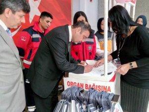 Vali Yardımcısı Kalender, organ bağışında bulundu