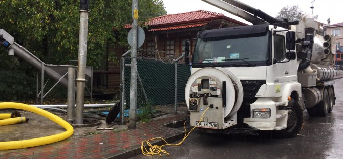 Kanalizasyon Terfi İstasyonları Bakıma Alındı