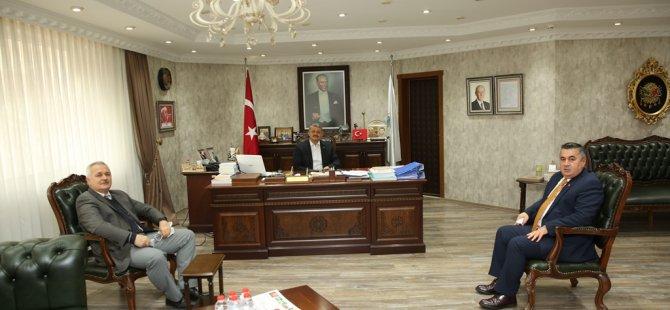 Şener ve Akdeniz'den Başkan Akın'a Ziyaret