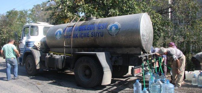 2 Mahallede Tankerle Su Devri Tamamen Bitecek