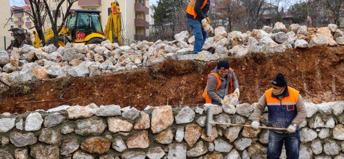 120 Tonluk Taş Duvar Çalışması
