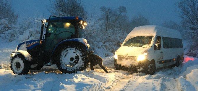 Köylerde kar çileye dönüştü