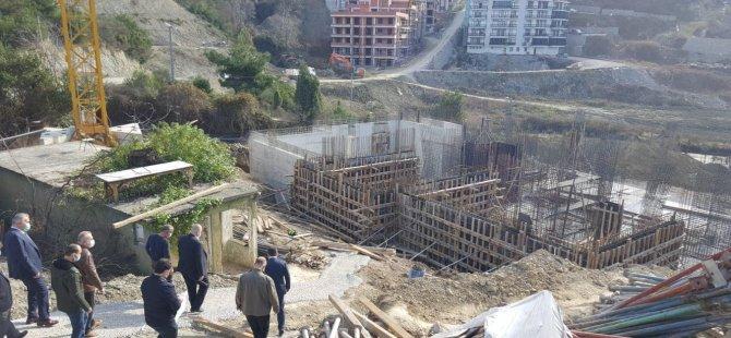 Tunç, Amasra Hükümet Konağı inşaatında incelemelerde bulundu