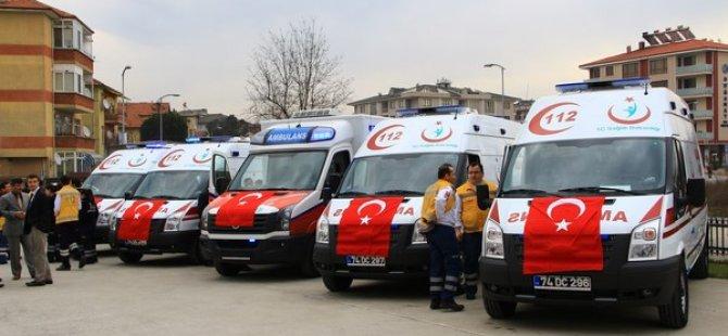 Bartın'a 4 yeni ambulans müjdesi