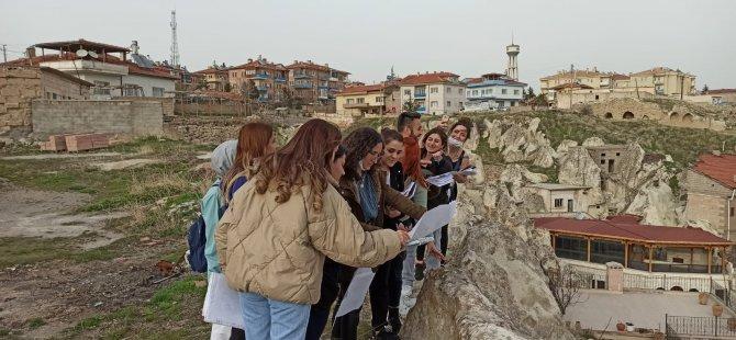 Nevşehir'de alan çalışmalarına katıldılar