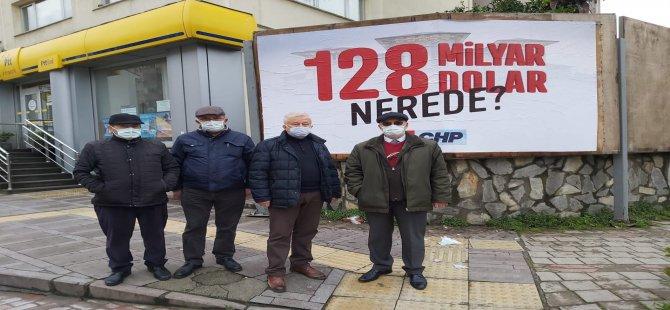 CHP'nin '128 milyar dolar nerede' afişleri kaldırıldı