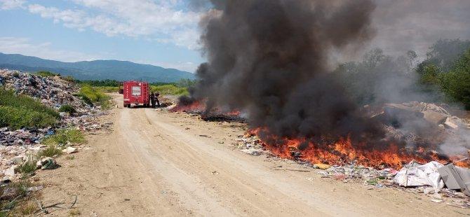 Çöp Yangınına Anında Müdahale Edildi