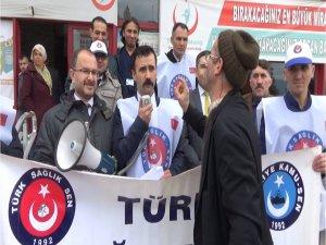 Basın açıklaması yapan Coşkun'u parti temsilcisi sandı