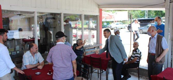 Başkan Kozcağız'da Vatandaşlarla Sohbet Etti