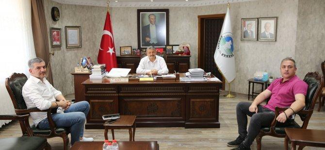 Yeni Kulüp Başkanı Yurtaçan'dan Başkan Akın'a Ziyaret