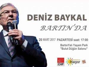 CHP eski Genel Başkanı Baykal Bartın'a geliyor