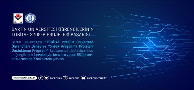 Bartın Üniversitesi öğrencilerinin TÜBİTAK 2209-B projeleri başarısı