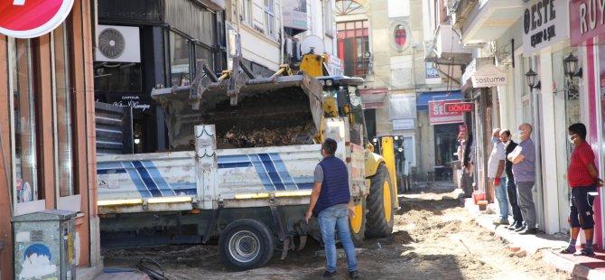 Lütfiye Caddesi'nde Üst Yapı Çalışmalarına Başlandı