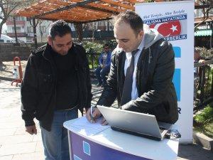 Vatandaşlara Milli Seferberlik Projesi anlatılıyor
