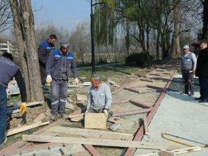 Kültür Parkı'nda Çalışmalar Devam Ediyor
