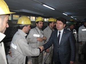 Milletvekili Tunç, Madencileri Ziyaret Etti
