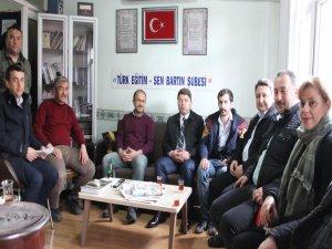 Tunç'tan Türk Eğitim-Sen Bartın Şubesi'ne Ziyaret
