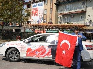 Cumhurbaşkanı Erdoğan'a destek için 81 ili gezdi