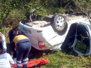 Alaplı'da trafik kazası: 1 yaralı