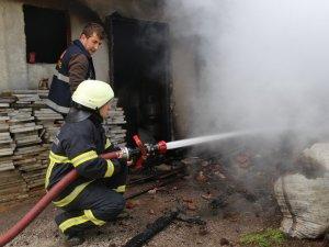 İnebolu'da Ev Yangını