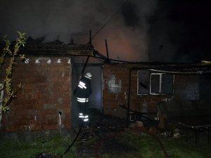 Tek katlı iki müstakil ev yandı
