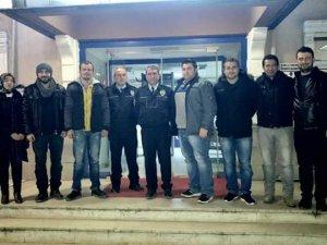 Nöbet Tutan Polislere Başsağlığı Ziyareti