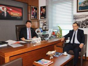 Milletvekili Tunç'a Amasra İlçe Milli Eğitim Müdürü'nden Ziyaret