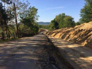 40.4 kilometre grup yolunun genişletme çalışmaları tamamlandı
