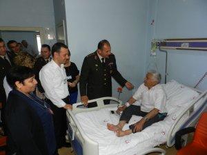 Jandarmadan hastane ve huzurevi ziyareti